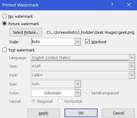 menambahkan watermark gambar di word