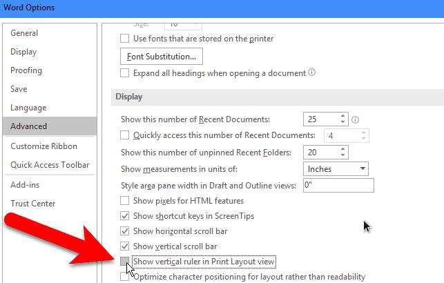 menampilkan vertical ruler di word