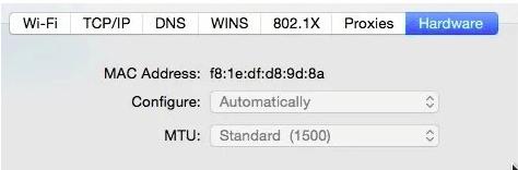 cara mengubah mac address di mac os