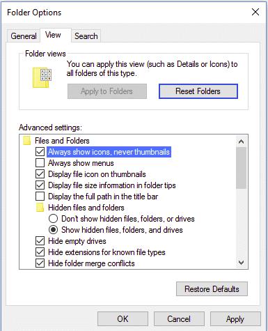cara menonaktifkan thumbnail windows