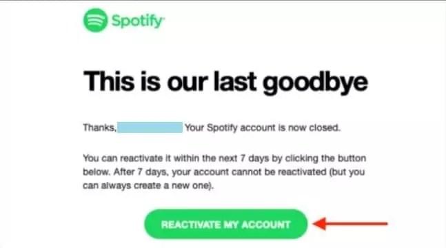 cara mengembalikan akun spotify yang di hapus