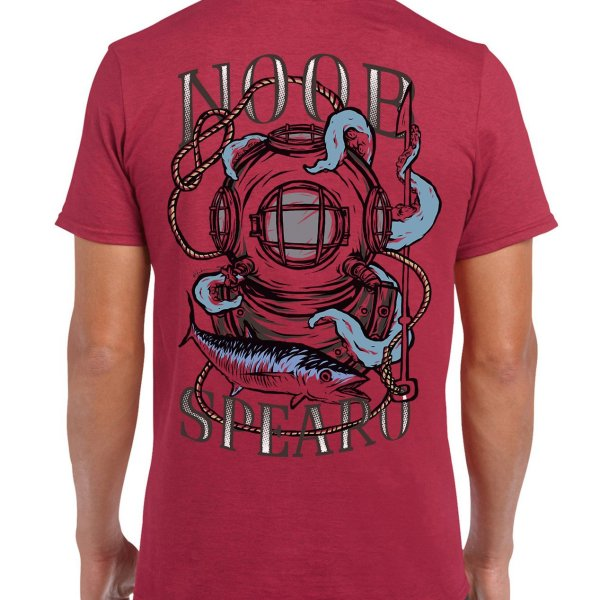Diving Bell Spearfishing T Shirt. Noob Spearo, Spanish Mackerel, Octopus