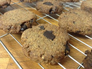 Paleo Cookies - Image shown is a double chocolate version!