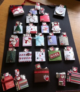 A homemade advent calendar that can be filled with anything you want - chocolates, sweets or even suggestions of things to do that day (e.g bake cookies, go to the park)