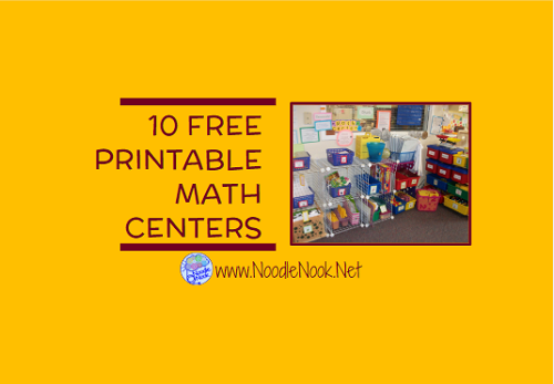 graphic about Printable Math Centers identify 10 Totally free Printable Math Facilities NoodleNook.Internet