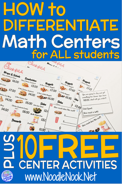 photograph relating to Printable Math Centers called 10 Cost-free Printable Math Facilities NoodleNook.World-wide-web