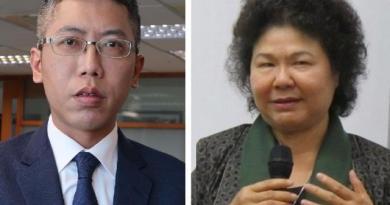 總統府前發言人丁允恭(左)與高雄前市長陳菊(右)。圖:新頭殼合成