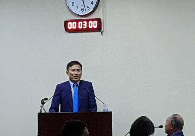 國民黨下午中常會邀請台灣大學新聞研究所前所長彭文正專題講演「新聞自由」。記者劉宛琳攝影