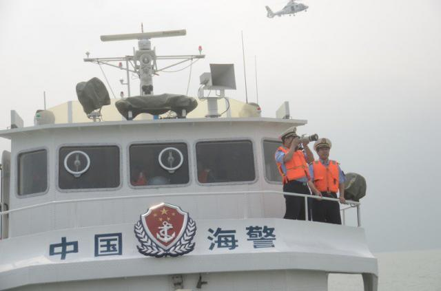 圖為中國海警船巡查。(中新社資料照片)
