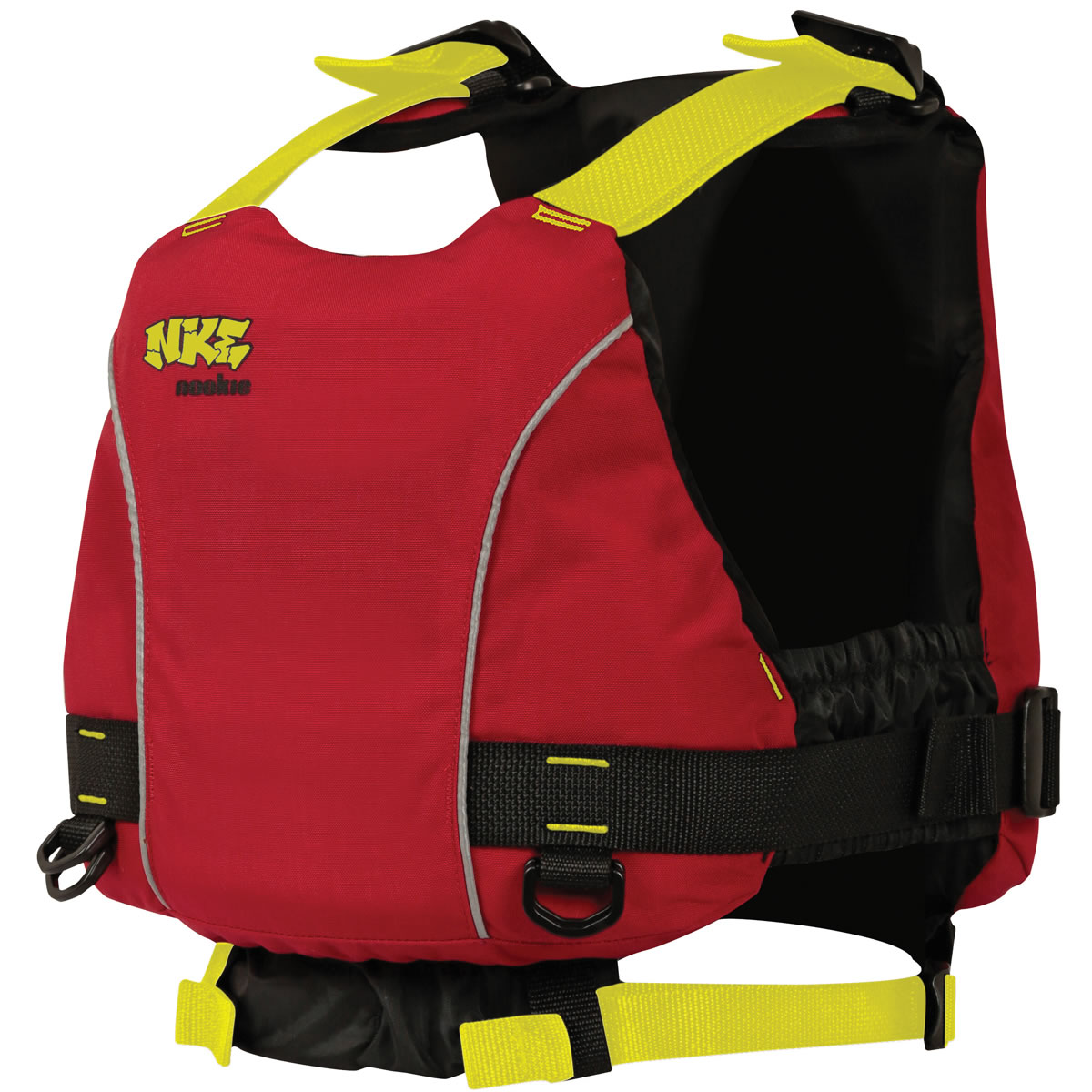 NKE Vest Centre Buoyancy Aid (Junior - Red with Yellow Webbing)