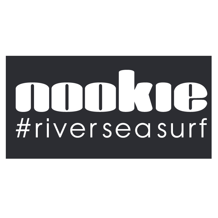 Nookie #riverseasurf Sticker 60mm x 30mm