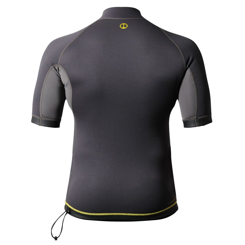 BACK - Nookie Ti-Vest 1mm Neoprene Wetsuit Short Sleeve Top