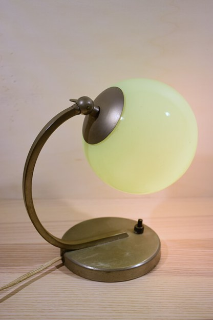 bureau lamp retro aan