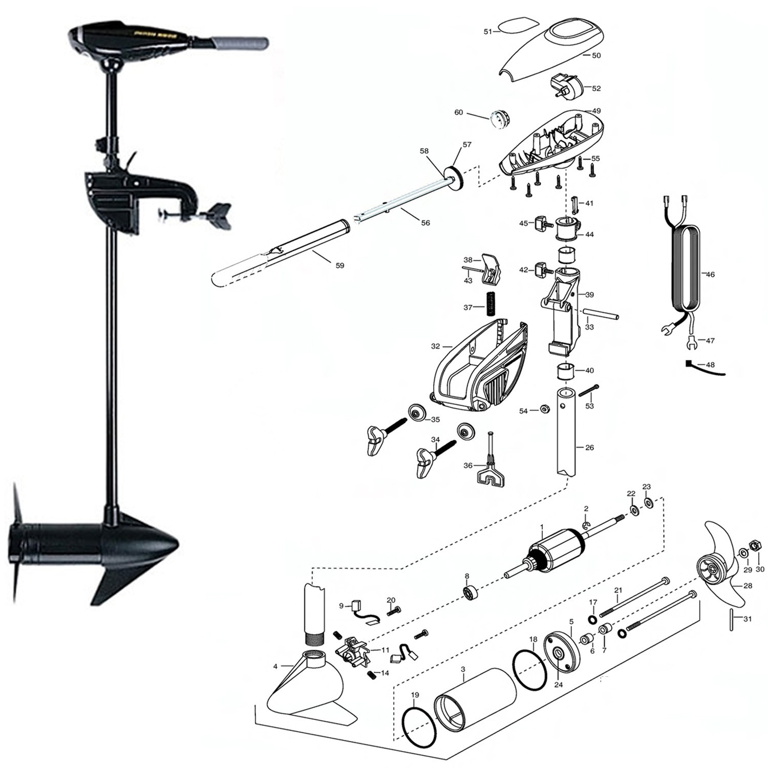 Spare Parts For Motor Endura 30