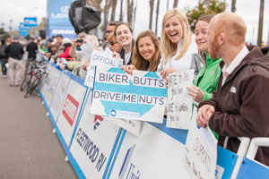 Race fans came out to watch Thursday's start of the Amgen ...