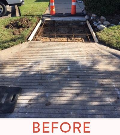 Hazardous Concrete ramp repair.