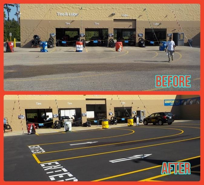 Parking Lot Asphalt Repair Services Dallas and Houston Tx