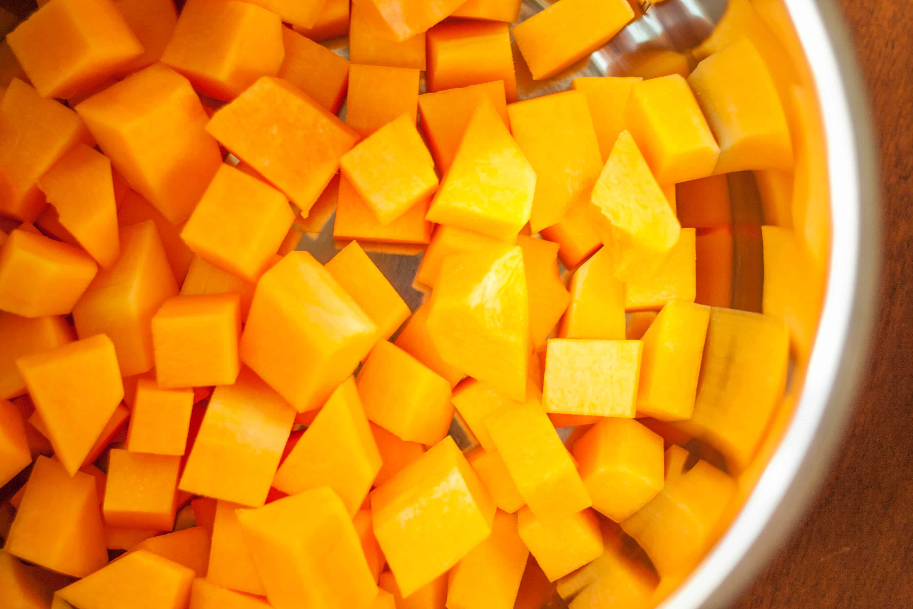 butternut squash in a pan