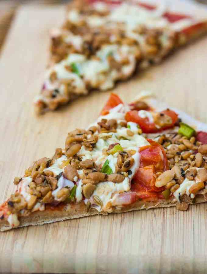 Easiest Whole Wheat Oil Free Pizza