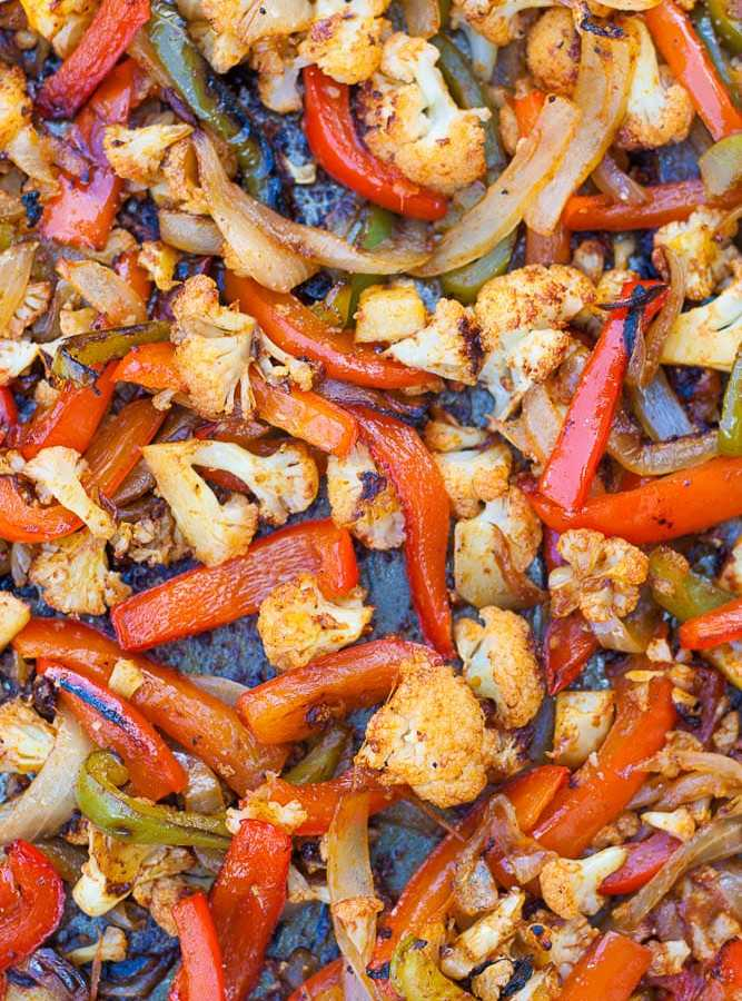 Sheet Pan Cauliflower Fajitas