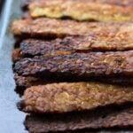 Smoky Baked Tempeh Bacon