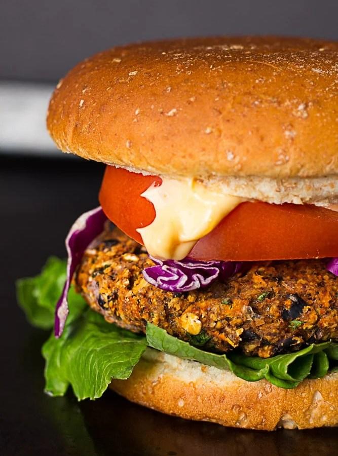 The Best Black Bean Veggie Burger