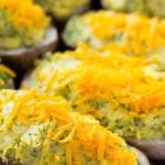 Vegan Cheesy Broccoli Twice Baked Potatoes