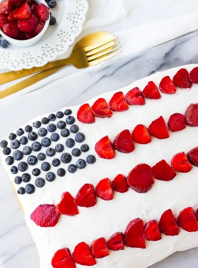 1 Bowl Vegan Flag Cake