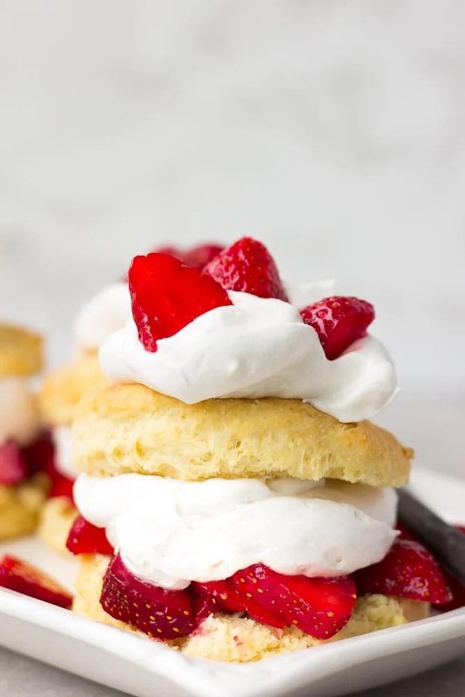 strawberry shortcake layered