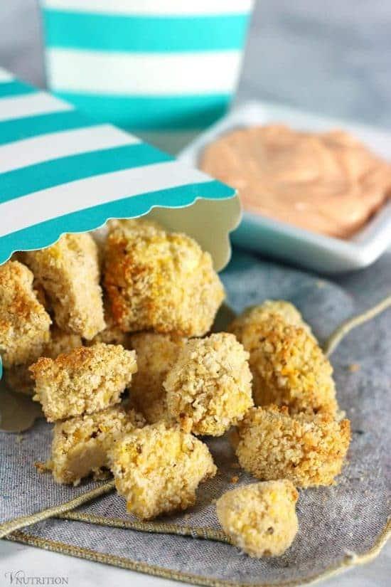 air fryer popcorn tofu bites