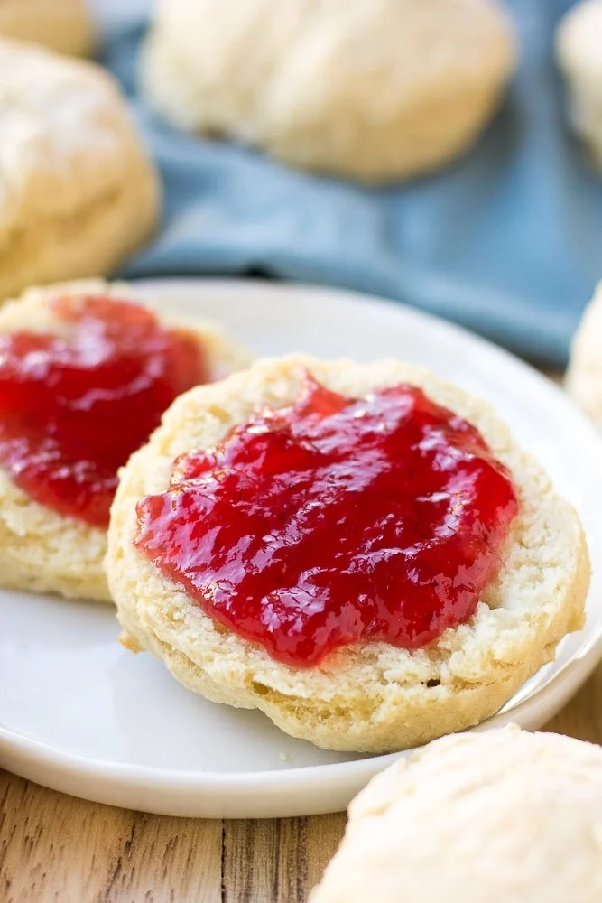 vegan biscuits with jelly on top