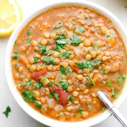 The Best Lentil Soup - Nora Cooks