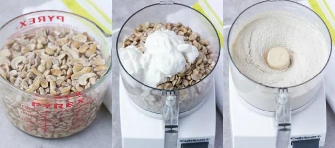 vegan cream cheese how to make collage