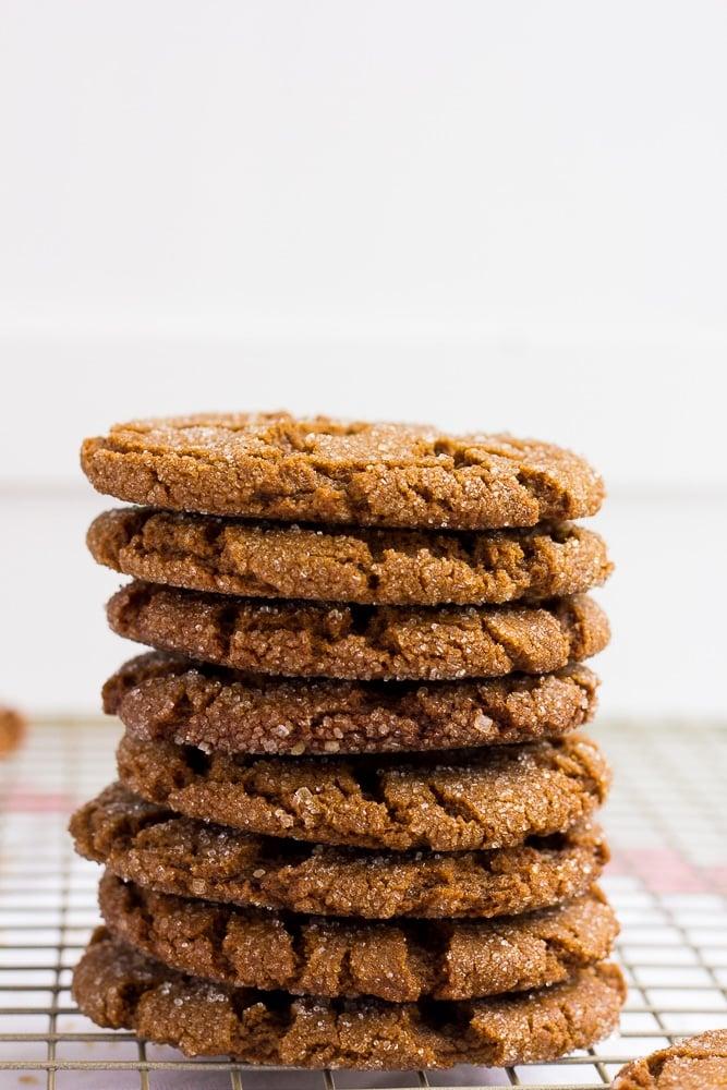 stack of vegan ginger cookies