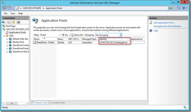 IIS - Application Pool - Portal