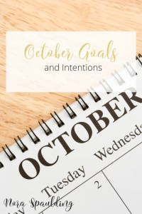 Monthly Goals and Intentions pin