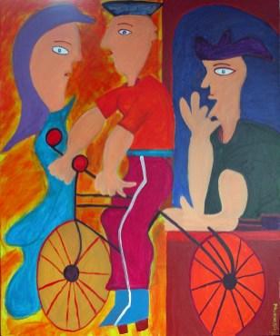 396 De Verleiding 4, 2007, 120 x 100, acryl op linnen, verkocht