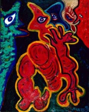 169 Inzicht, 1999, 80 x 100 cm, olie, 550,-