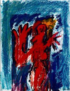 184 Rode man, 1999, 63 x 83