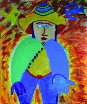 234 De Hoed, 2005, 100 x 120 cm, acryl, 750,-
