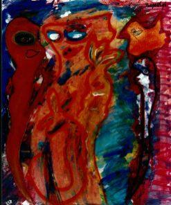 67 De Oranje Vogel, 1996, 63 x 73, 350,-