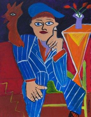 392 De Denker, 2006, 70 x 90 cm, acryl, 500,-