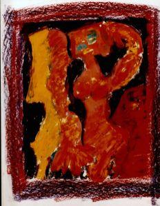 113 Zittend Naakt 2, 1997, 63 x 73, mixed, 350,-