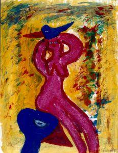 147 Vrouw en vogels, 1998, 83 x 63, gemengd, 400,-