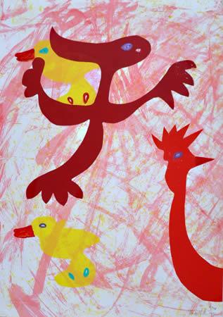 389 Dierkleuren 11 2005, 48 x 38, gemengd, verkocht