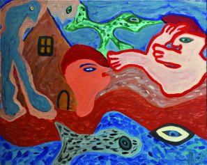 3 De Geboorte, 1993 80 x 100 olie