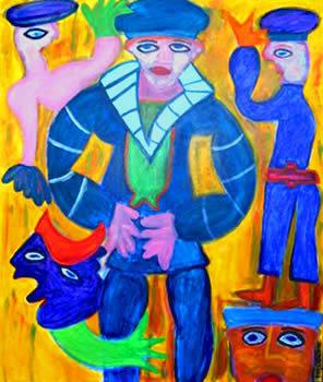 417 De eenzame matroos, 2011 120 x 100 acryl