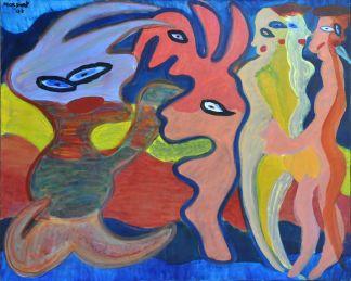 84 De Verleiding, 1996 80 x 100 olieverf, 550,-