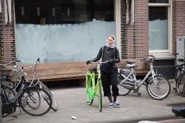 Auffällige Fahrräder sind in Amsterdam selten