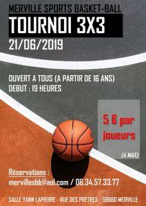 Tournoi 3x3 à Merville @ Salle Yann Lapierre